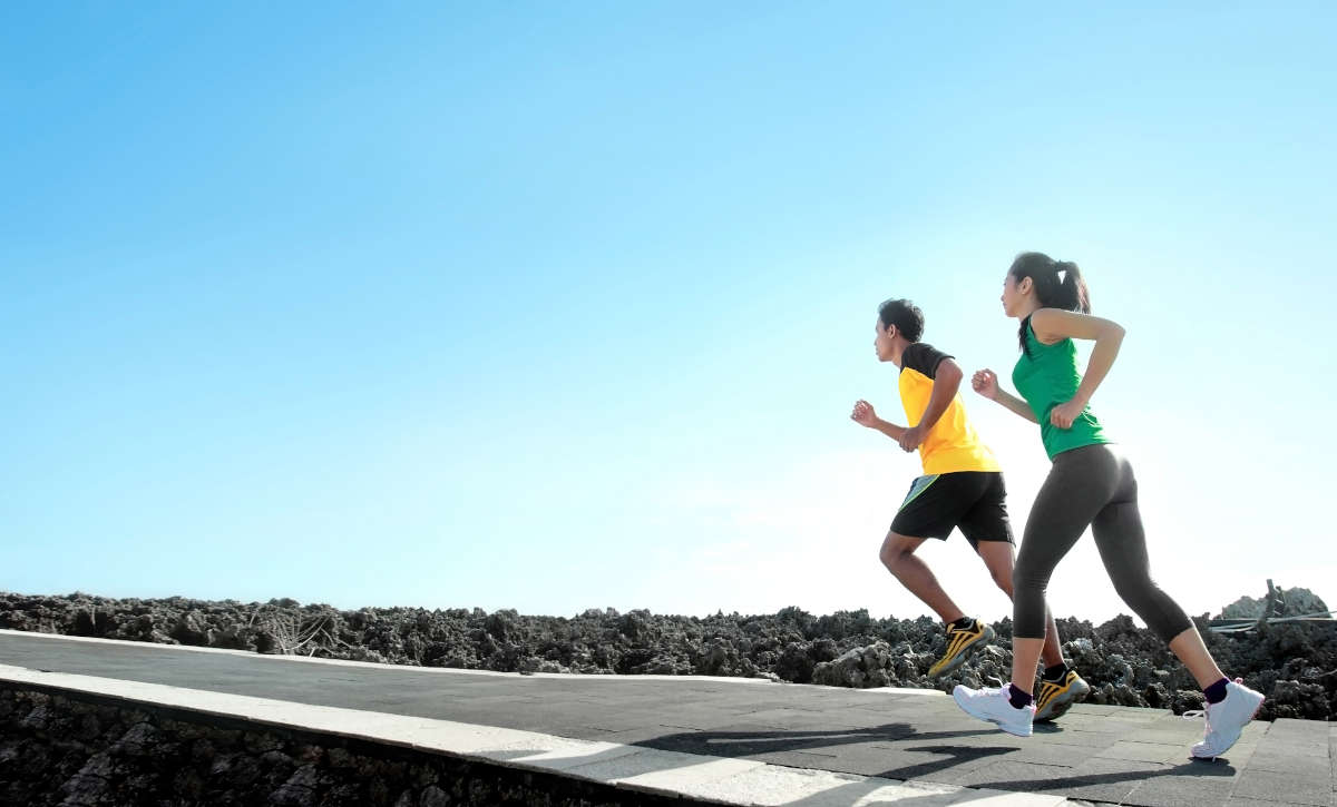 Sport,-,Asian,Couple,Running,Outdoor,Doing,Exercise